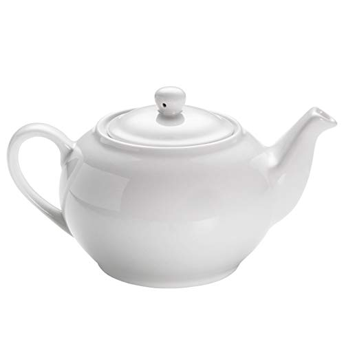 Maxwell & Williams P997 White Basics Teekanne aus Porzellan, Weiß, für 3 Tassen, in Geschenkbox