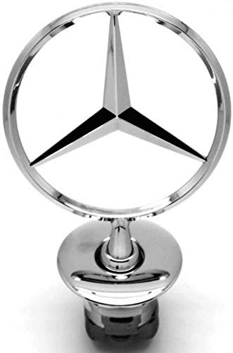 JDclubs 3D Emblem for Mercedes Benz Car Logo Front Hood Ornament Car Cover Chrome Eagle Badge (slive)