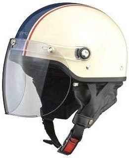 【ホンダ純正】 開閉式ライトスモークシールド装備 ハーフヘルメット 全6色 フリーサイズ57-60未満 サイズ調整スポンジ付き 【ビジネスからタウンユーズまで】 アイボリーブルー