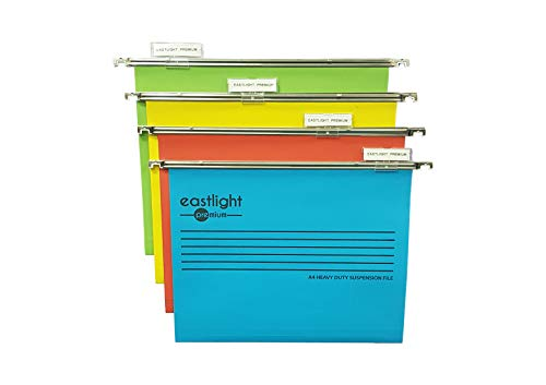 Eastlight Premium Filing Cabinet A4 Suspension Files with Tabs and Inserts (Pack 10) 100% Recycled Manilla. Made in The UK, Please Check Size Required **