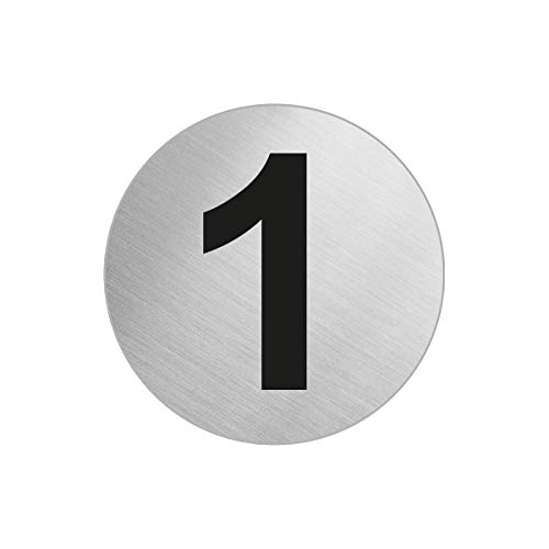 OFFORM Türnummer Zimmernummer aus Edelstahl 1