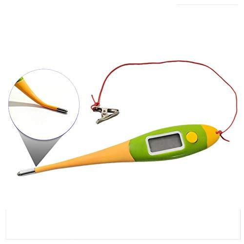 SHOH Waterdichte ABS huisdierthermometer digitale thermometer elektronische huisdierthermometer met led-beeldscherm en geheugen voor de laatste meting Usual