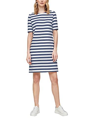 s.Oliver Damen 120.10.104.20.200.2063518 Kleid, Blue Stripes, 40