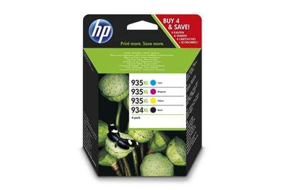 HP 934XL/935XL-Set Original Hohe Kapazität Tintenpatronen, Schwarz/Cyan/Magenta/Gelb