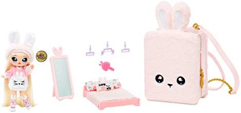 Na Na Na Surprise 3 in 1 Backpack Bedroom Playset With Limited Edition Aubrey Heart Doll In product image