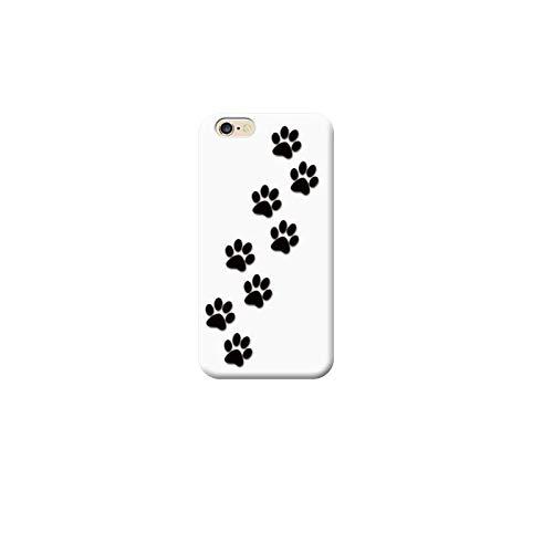 TheBigStock Cover Custodia per Tutti Modelli Apple iPhone x 8 7 6 6s 5 5s Plus 4 5c TPU 4 - AA55 Impronte Cane Nero Sfondo Bianco, iPhone 6