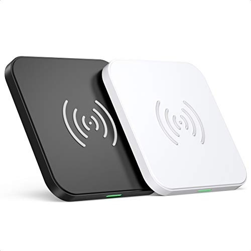 CHOETECH Cargador Inalámbrico, Qi Wireless Charger [2 Pack], 7.5W para iPhone 12/12Pro/12 Mini/11/11 Pro/SE 2/XS/XR/X/8, 10W para Samsung S20/S10/S9/S8/Note20/Note10/9, 5W para Huawei P30Pro, Airpods2