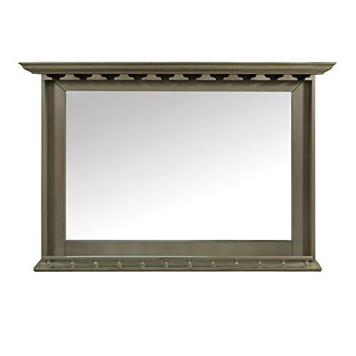 RAM Game Room Back Bar Slate Wood Mirror with Shelf