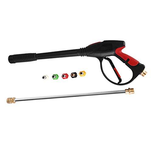 Iwähle Hochdruck-Waschpistole Power Spray Gun 4000psi mit 51CM Verlängerung Ersatz Stablanz und 5 Quick Connect Düsen, für Honda, Generac, Ryobi, Powerstroke, Hochdruckreiniger Zubehör