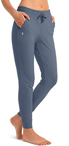 SANTINY Women's Sweatpants with 3 Pockets Cotton Pants Yoga Lounge Joggers for Women