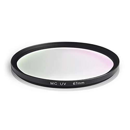 Ares Foto® MC UV Filter, Slim Schutzfilter mit Mehrschichtvergütung für Canon Sony Nikon Leica Fujifilm Panasonic Pentax Sigma Tamron Pentax (67mm)