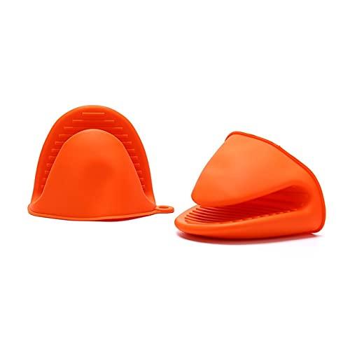2 udsGuantes de Silicona para Horno Guantes de Dedo con Aislamiento térmico para cocinar microondas Pinza Antideslizante Soporte para Olla Herramienta para Hornear de Cocina-DG