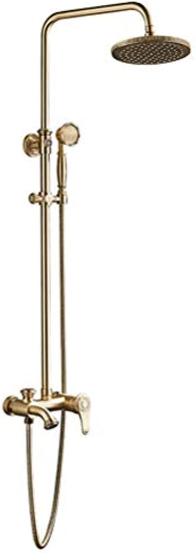 Duschset Kupfer Heie Und Kalte Wasserhahnstange