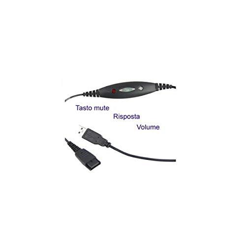 Cable de conexi/ón QD-RJ9 para microcasco Ezlight y Jabra EZD-QD002A