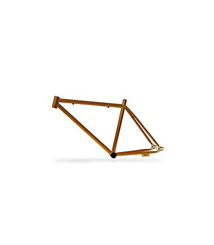 Riscko 001l Cuadro Bicicleta Personalizada Fixie Talla L Oro
