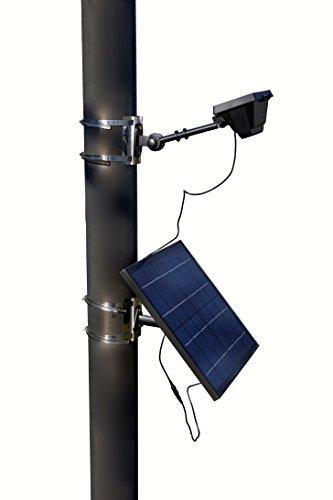Valley Forge, Flag Pole Light, LED Solar, High-End Commercial Grade, 6 Volt, 12 Ultra Bright LED Light Bulbs, HECSFPL-12