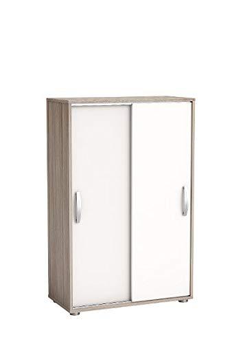 Wäscheschrank Selina Akazie 2 Türen B 68 cm H 106 cm Jugend Schlaf Kinderzimmer Schiebetürenschrank Holz Kleiderschrank