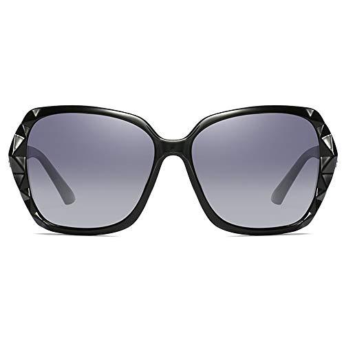 Stella Fella Gafas de sol polarizadas con material de policarbonato, color negro, morado, rojo, plateado, modelos femeninos de conducción (color negro)