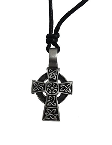 Valentine's Day Gift Mens Celtic Cross Necklace Pewter from Ireland