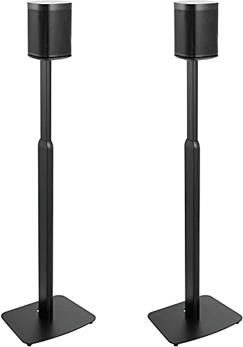 ynVISION Height Adjustable Floor Stands for Sonos One, One SL, Play:1 | 2 Pack | (Black)