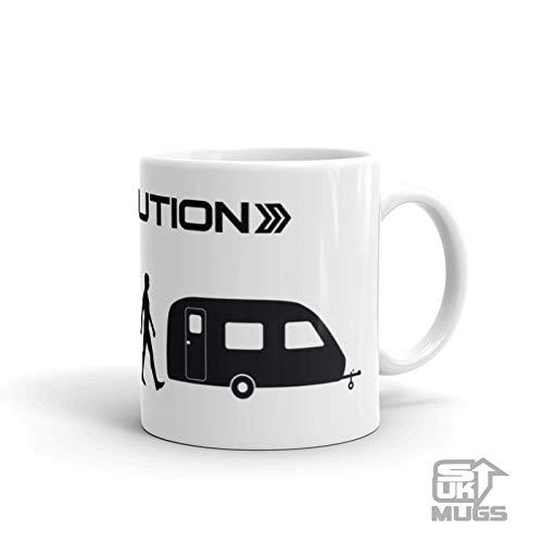 Stickumupuk Evolutie van Man Caravan Mok Tent Camping Hoilday Thee, Koffie, Hot Chocolade, Nieuwigheid Gift Idee Gratis P+P