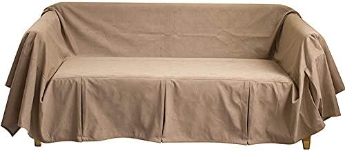 Sliyemo Funda de sofá de Color sólido, Cubiertas de sofá Gruesas de Lujo, Cubiertas de sofá seccional para 1 2 3 4 Sofá de Asiento Protector para Perros adecuados (Color : A, tamaño : 190 * 300cm)