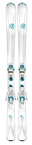 K2 Skis Damen LUVIT 76 ER3 10 COMPACT QUIKCLIK Set Ski Mit Bindung, Mehrfarbig, 163 cm