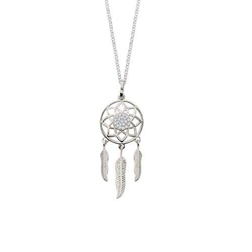 collares de mujer de moda Colgante de regalo ideal del colector Collar Mujer plata esterlina temperamento sencillo Super Flash diamante ideal del colector Collar Dia De La Madre Regalos