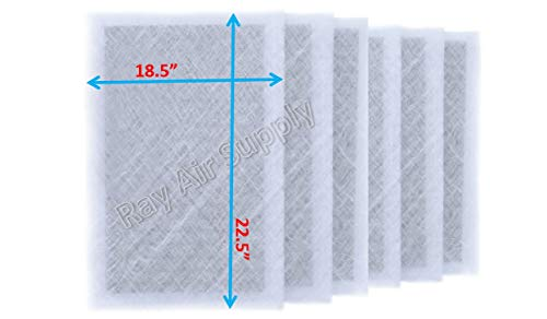 Fantastic Prices! RAYAIR SUPPLY 20x25x2 Dynamic P2000 Air Cleaner Replacement Filter Pads 20×25 Refills White (6 Pack)