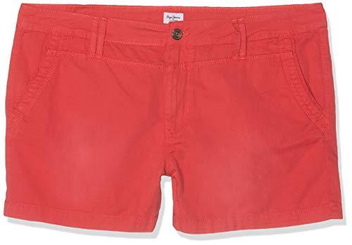 Pepe Jeans Damen Balboa Short Badeshorts, Rot (Pepper Red 254), 28W