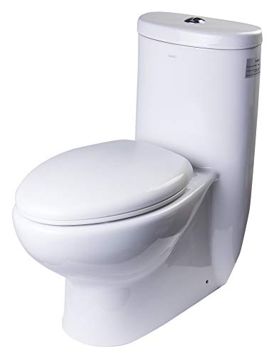 EAGO TB309 Tall Dual Flush Ceramic Toilet, 1-Piece