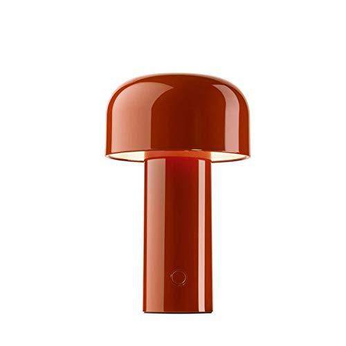 Lámpara de mesa recargable de la colección Bellhop, 2,5W, 12,5 x 12,5 x 21 centímetros, color rojo (referencia: F1060075)