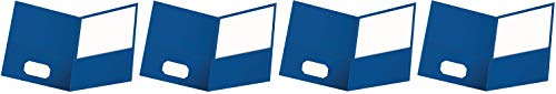 Oxford Twin-Pocket Folders, Textured Paper, Letter Size, Royal Blue, Holds 100 Sheets, Box of 25 (57512EE) (F?ur ???k)