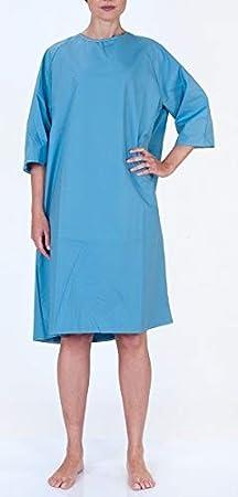 Bata de Paciente - CAMISON HOSPITAL - PACIENTE (polialgodón, azul)