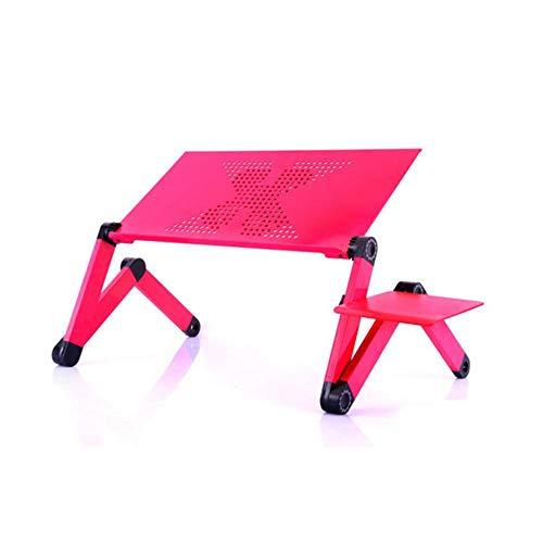 ZWLUCKY opvouwbare laptoptafel, verstelbaar, multifunctionele aluminium notebookstandaard, bureau, eettafel, koffietafel, slaapbank voor thuis buiten