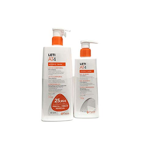 PACK LETI AT4 Leche Corporal 500ml + Gel de Baño 250ml