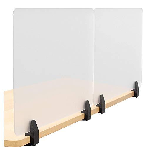 Niesenschutz, mattiert, Trennwand für Schreibtisch, für Studenten, Call-Centers/Büros/Braries/Klassenzimmer/ohne Clip (50 x 30 cm), 2 Stück