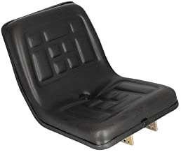 Seat Compact Tractor Polyurethane with Flip Brackets Black Yanmar Ford Massey Ferguson International Kubota New Holland Mitsubishi 2000 35 384 Cub Lo-Boy 790 870 4500 220 TC35 TC45 284 TC40 1910 1700