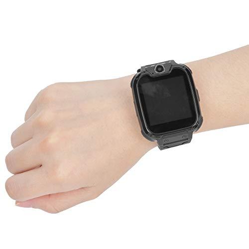 Reloj de Pantalla táctil, Reloj de teléfono multifunción para niños para niños, Juguetes para niños, Regalo para Reducir el estrés por presión(Black)