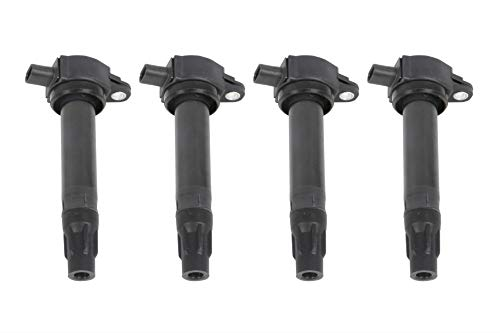 Ignition Coil Pack Set of 4 - Replaces 4606824AB, UF557, C1587, 5C1644, C-1587, GN10346 - Fits Chrysler 200, Sebring, Dodge Avenger, Caliber, Journey, Jeep Compass, Patriot Including Year 2007-2017