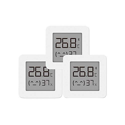 Heerda Digital Thermometer Hygrometer, Innen Bluetooth Thermometer 2 Wireless Smart Elektrische Digital Hygrometer Thermometer Arbeit für Mijia APP,3 PCS