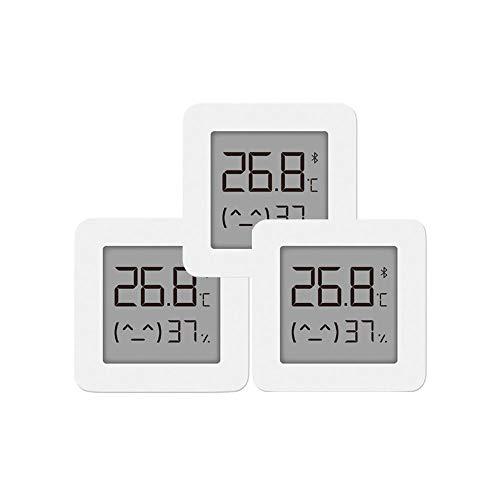 Heerda Digitales Thermometer, Hygrometer, Indoor-Bluetooth-Thermometer, 2 kabellos, elektrisch, digital, Hygrometer, Thermometer für Mijia App, 3 Stück