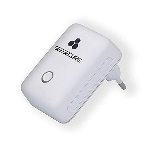 BeeSecure BEE-REPEATER, funciona con productos BEE-HUB y BeeSecure, extensor de rango de trabajo, dispositivos de doble conexión, enchufe inalámbrico