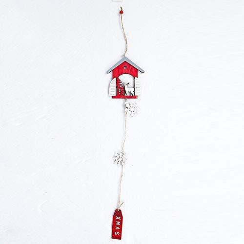 Boom Toppers - Kerstboom Ornamenten Houten Sneeuwvlok Tag Kerstman Sneeuwman Elk Hangers Decoratie DIY Hout - Kleine Kerstbomen Taart Verlichte Decoraties Boom Schoenen Ster Engelen Toppers Elk