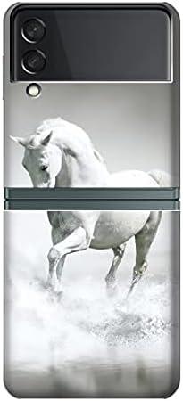 R0932 White Horse Case Cover for Samsung Galaxy Z Flip 3 5G