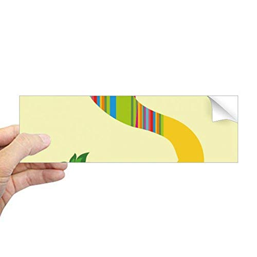 DIYthinker S Alfabet Aardbei Fruit Leuke Patroon Rechthoek Bumper Sticker Notebook Window Decal