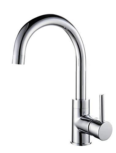 Waschtisch Armatur Niederdruck Messing Chrom Bad Einhandmischer mit Pop-Up Ablaufgarnitur 2406262