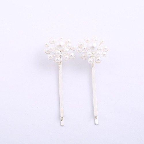 A&A Hair Beauty Haarschmuck Klemme Spange Haarschieber Steckkamm Perle Blume, 11 g