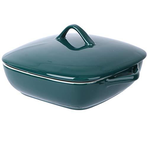 Cabilock Ceramic Baking Dish with Lids and Handle Nordic Square Braiser...
