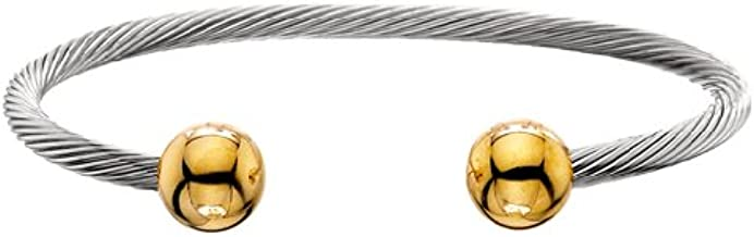 Classic Gold Ball Stainless Steel Cable - L